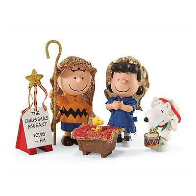Snoopy The Christmas Pageant Nativity Display Peanuts Dept 56 Clothtique