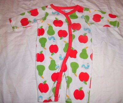 Hanna Andersson Organic Cotton  One-Piece Pajamas. SIZE 50 0-6 MO PERFECT!