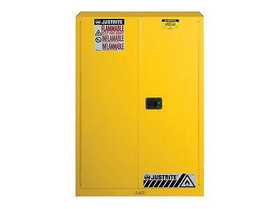 JUSTRITE 45 Gallon Yellow Flammables Safety Cabinet 894500