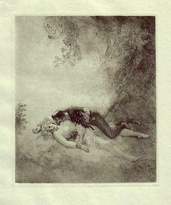 Norman Lindsay Hand Gravure  'robin Hood' 1928 Limited Edition Of 550