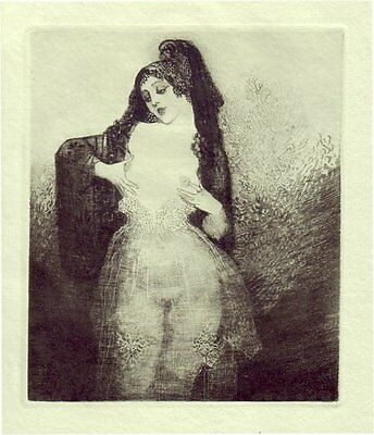 Norman Lindsay Hand Gravure  'the Talking Breasts' 1928 Limited Edition Of 550