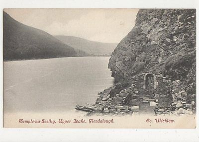 Temple Na Seellig Upper Lake Glendalough Ireland Vintage Postcard 423a