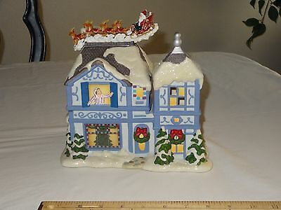 PartyLite P8651 The Night Before Christmas Musical Tea Light House Music Box DEF