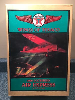 New 1993 Wings Of Texaco 1St In The Series 1929 Lockheed Air Express Coin Bank