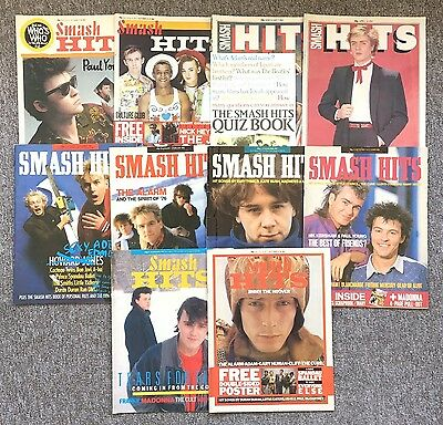 10 Issues SMASH HITS, 1980s