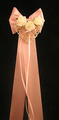 h 10 X Wedding  Church Pew Ends Tulle Bows Flower Decoration. Lots Of  Colours