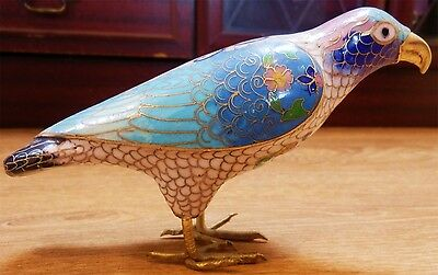Vintage Chinese Cloisonne Large bird