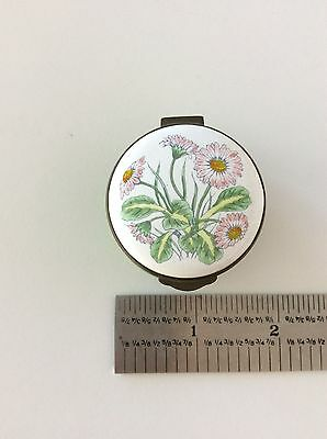 English Enamels by Crummles trinket box with flowers