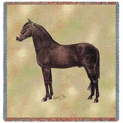Lap Square Blanket - Morgan Horse II by Robert May 2376
