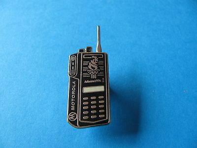 MOTOROLA Radio Walkie Talkie Atlanta 96, Olympic Pin badge. Hard Enamel. VGC