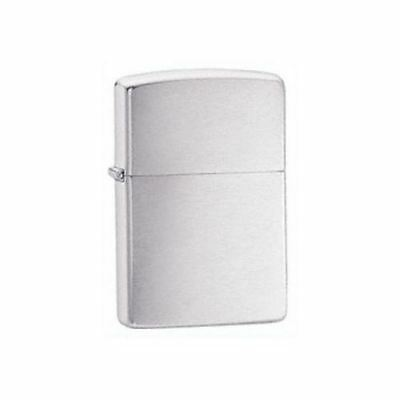 Official Classic Brushed Chrome Zippo Lighter - Boxed Gift Silver Tone