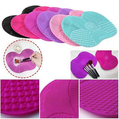 Silicone Makeup Brush Cleaner Pad Wash Scrubber Board Cleaning Mat Hand Tool BN