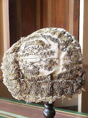 Rare antique German 19th Century Gold Cap embroidered in 18th Century manner
