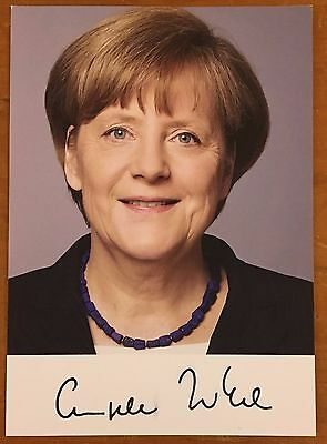 Angela Merkel, 100% Authentic Autographed Photo ! Chancellor Of Germany !!!