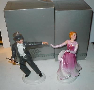 Avon Images Of Hollywood Fred Astaire And Ginger Porcelain Figurines In The Box