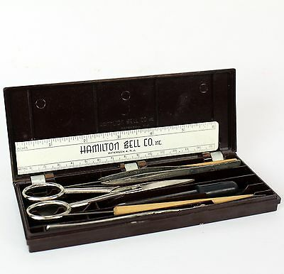 Vintage Hamilton Bell Dissecting Dissection Kit Set Student College Lab School