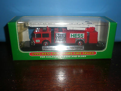 1999 Hess Miniature Fire Truck New In Box Nib Great Gift For Birthday Christmas