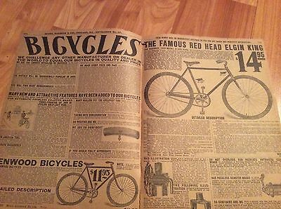 pages from 1908 Sears Catalog #117 ELGIN KING KENWOOD BICYCLES