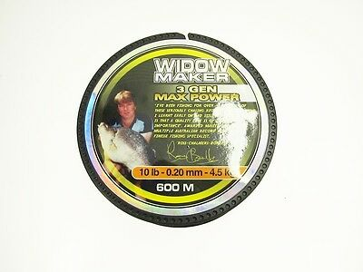 Widow Maker 3 Gen Max 600M 10Lbs Mono Fishing Line Dark Brown