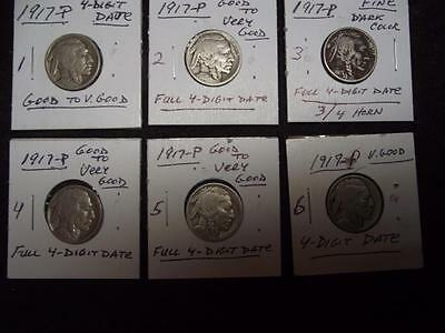 """1917-P, Full 4-Digit Date, Real nice Buffalo Nickel over """"99"""" Years Old!"""