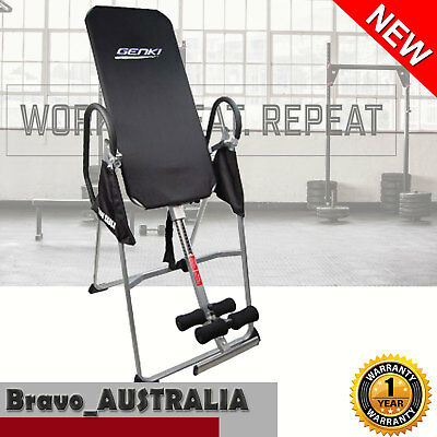 Inversion Table Folding Upside Down Back Pain Exercise Home Gym Fitness Gravity