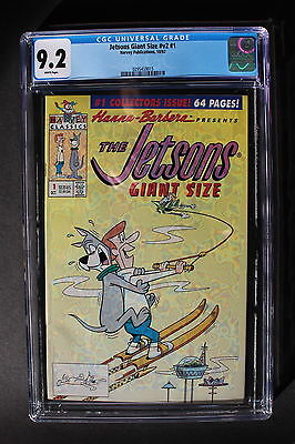 JETSONS GIANT SIZE V2 #1 Harvey 1992 68 Pages Hanna-Barbera TV CGC NM- 9.2