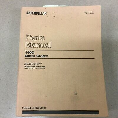 caterpillar 140g motor grader parts book cat service manual 72v10334 rh picclick com Cat 140G Cab Cat 140G Heater