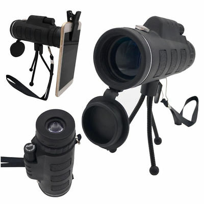 Travel 40X60 Zoom HD Optical Prism Monocular Telescope + Tripod + Camera Clip