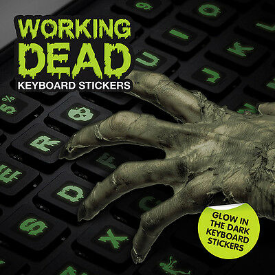 The Working Dead Zombie International and UK Keyboard Stickers - Halloween New