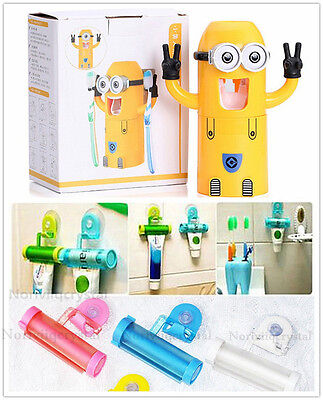 Hot Minions Plastic Rolling Tubes Squeezer Toothpaste Easys Dispenser Bathrooms