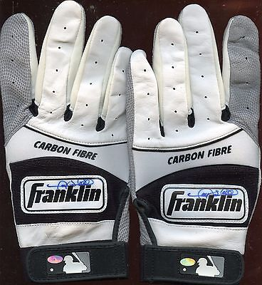 Gary Sheffield Game Issued B & W Pair Franklin Batting Gloves Autographed Holo