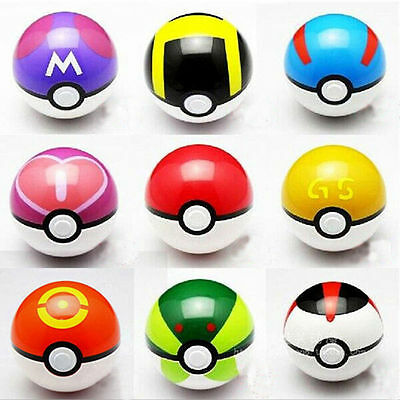 9pcs/Set Pokemon Pokeball Pop-up 7cm Cartoon Plastic BALL Toy Kids Gift