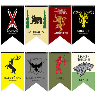 Game of Thrones Hanging Banner Flag Stark Lannister Bolton Party Home Decor