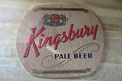 old scarce original Kingsbury Pale Beer,Manitowoc-Sheboygan Wis beer wood sign