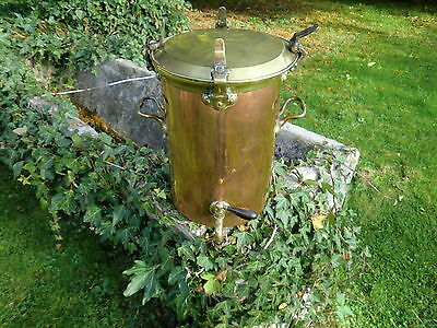 Antique Vintage Copper & Brass Urn Pot 4.6 Kg