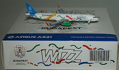 JC Wings LH4041 Airbus A321-231HL Wizz Air HA-LXJ Budapest 2024 in 1:400