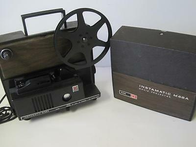 Vintage Kodak Instamatic M68A Super 8 Movie Projector: Works Well & Bulb is Good