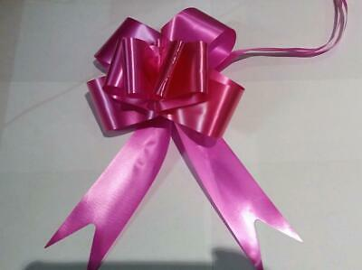 """2"""" Rapid Satin Pull Bows 50mm Pull Bow (Pack of 10) Hot Pink Party Decorations"""