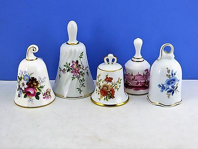 Porcelain Bells Danbury Mint Kaiser Royal Albert Limoge Spode Lot 5 Certificates