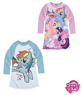 Official Hasbro My Little Pony Girls Long Sleeve Nightie Nighdress 100% Cotton