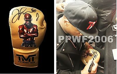 Floyd Mayweather Jr Hand Signed Autographed Boxing Glove With Exact Pic Proof 3