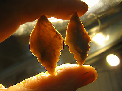2 Authentic North African Neolithic Arrowheads, 3000 - 7000 Years Old Artifacts