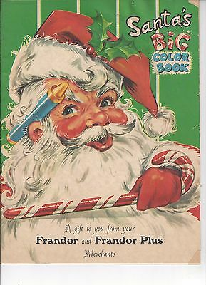 Christmas Coloring Book Handout-Frandor & Frandor Plus Merchants, Lansing Mi
