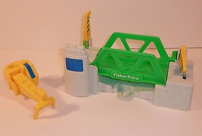 Vintage 1992 Fisher-Price Flip Track Bridge & Crane Pieces Lot of 2 Replacement