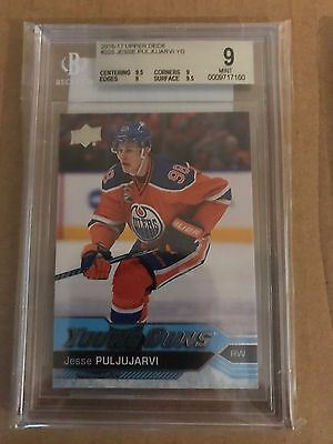 JESSE PULJUJARVI - 2016-17 UD Series One Young Guns #225 RC MINT BGS 9