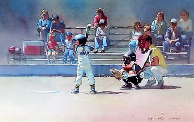 Kiff Holland Lithograph Future Champions Baseball 1990's