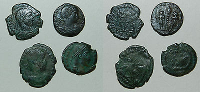 Ancient Rome :  4 X Bronze Coins - Good Detail (#2)