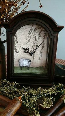 Primitive* Mantle Clock* Sheep* Willow Tree* Farmhouse* Country