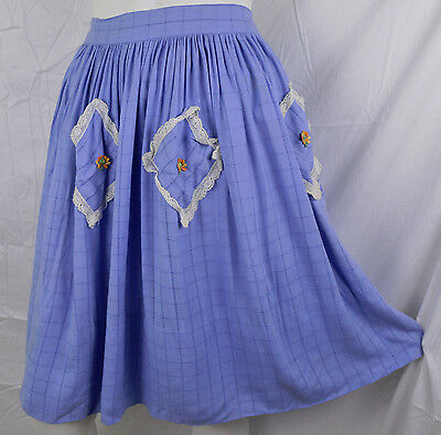 Vintage 1930s 30s 40s Kate Greenaway Sportswear Skirt Blue Youth Teen Girl Child