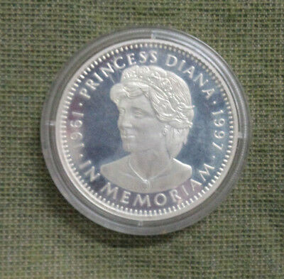#d313. Princess Diana Memoriam  1961 - 1997 Silver Proof $20 Liberia  Coin